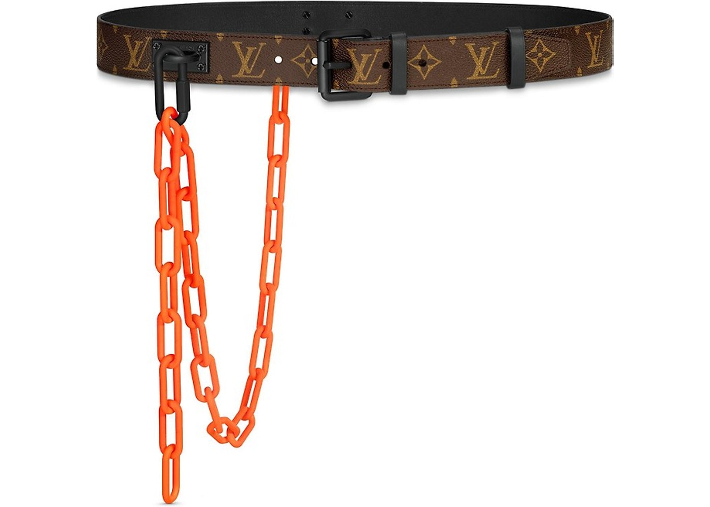 a49facf35db7 Louis Vuitton Signature Belt Monogram Chains 35MM Brown Orange. Monogram  Chains 35MM Brown Orange