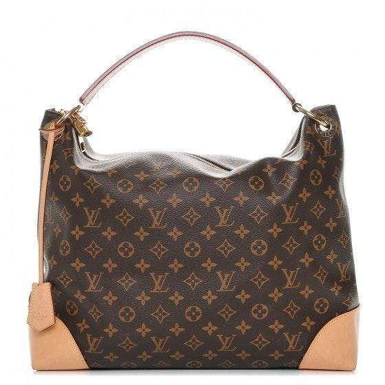 Louis Vuitton Hobo Berri Monogram MM Brown