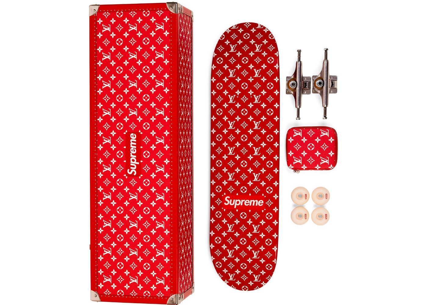 71932a43a1f2 Skateboard Deck Monogram Red