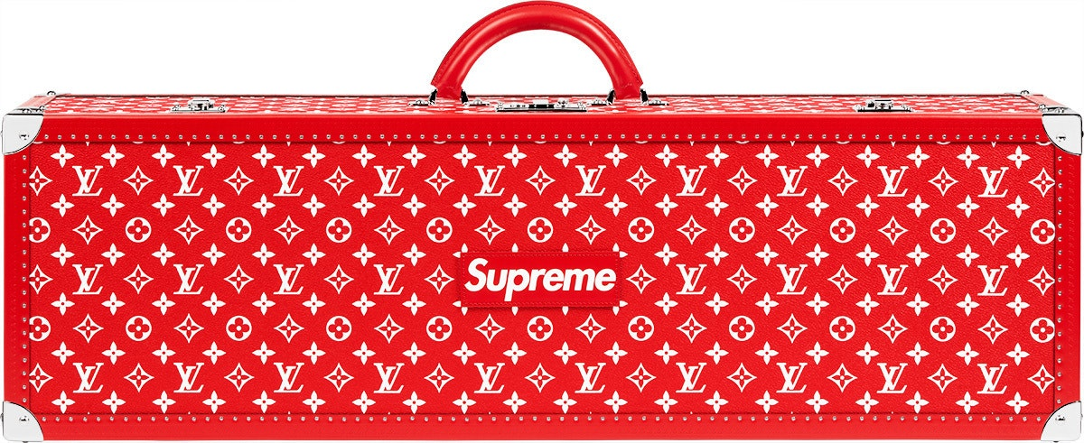 Louis Vuitton x Supreme Boite Skateboard Trunk Monogram Red