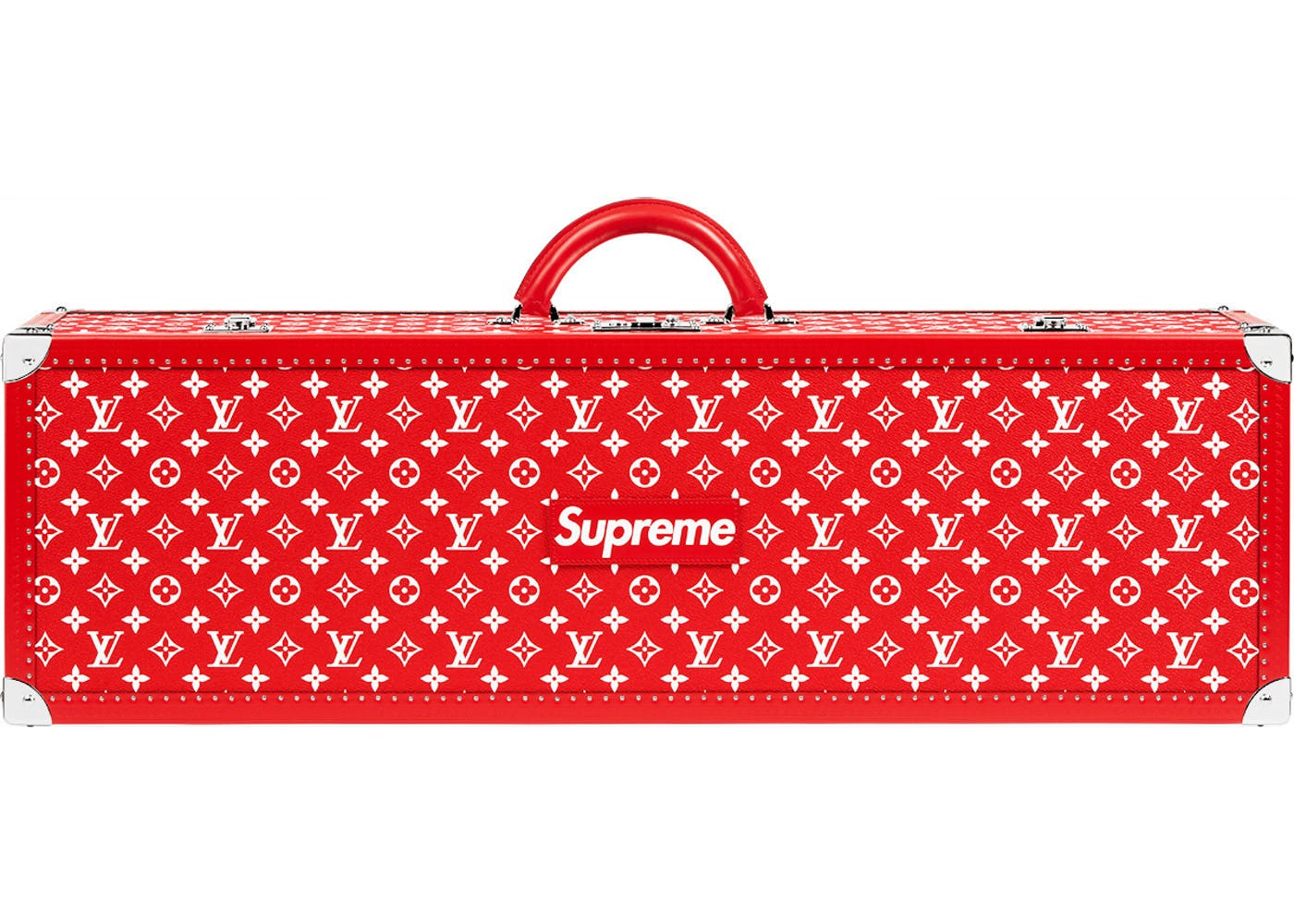 louis vuitton x supreme boite skateboard trunk monogram red. Black Bedroom Furniture Sets. Home Design Ideas
