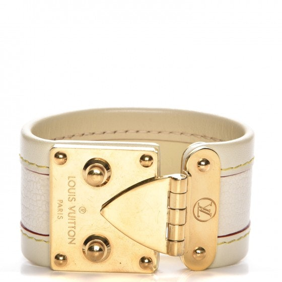 Louis Vuitton Bracelet Small Lock Chevre Suhali