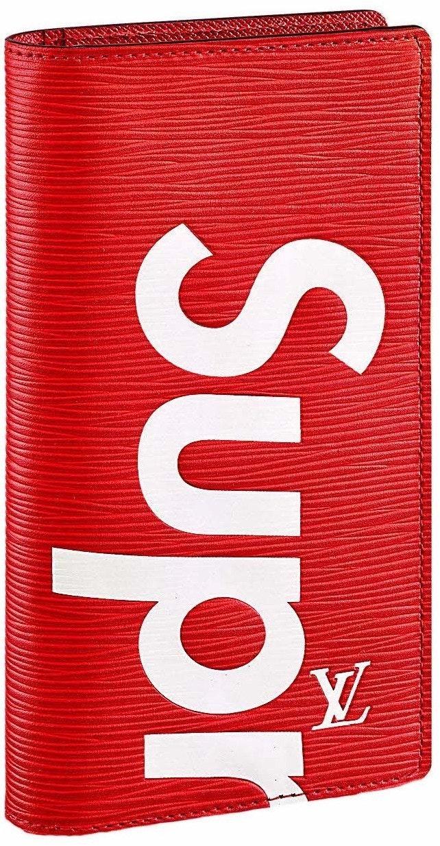 Louis Vuitton x Supreme Brazza Wallet Epi Red