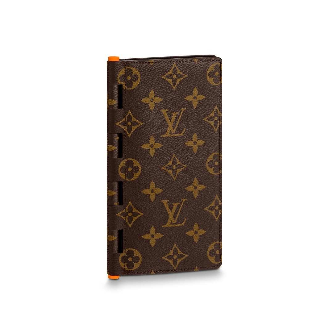 Louis Vuitton Brazza Wallet Hinge Monogram Solar Ray Orange Brown