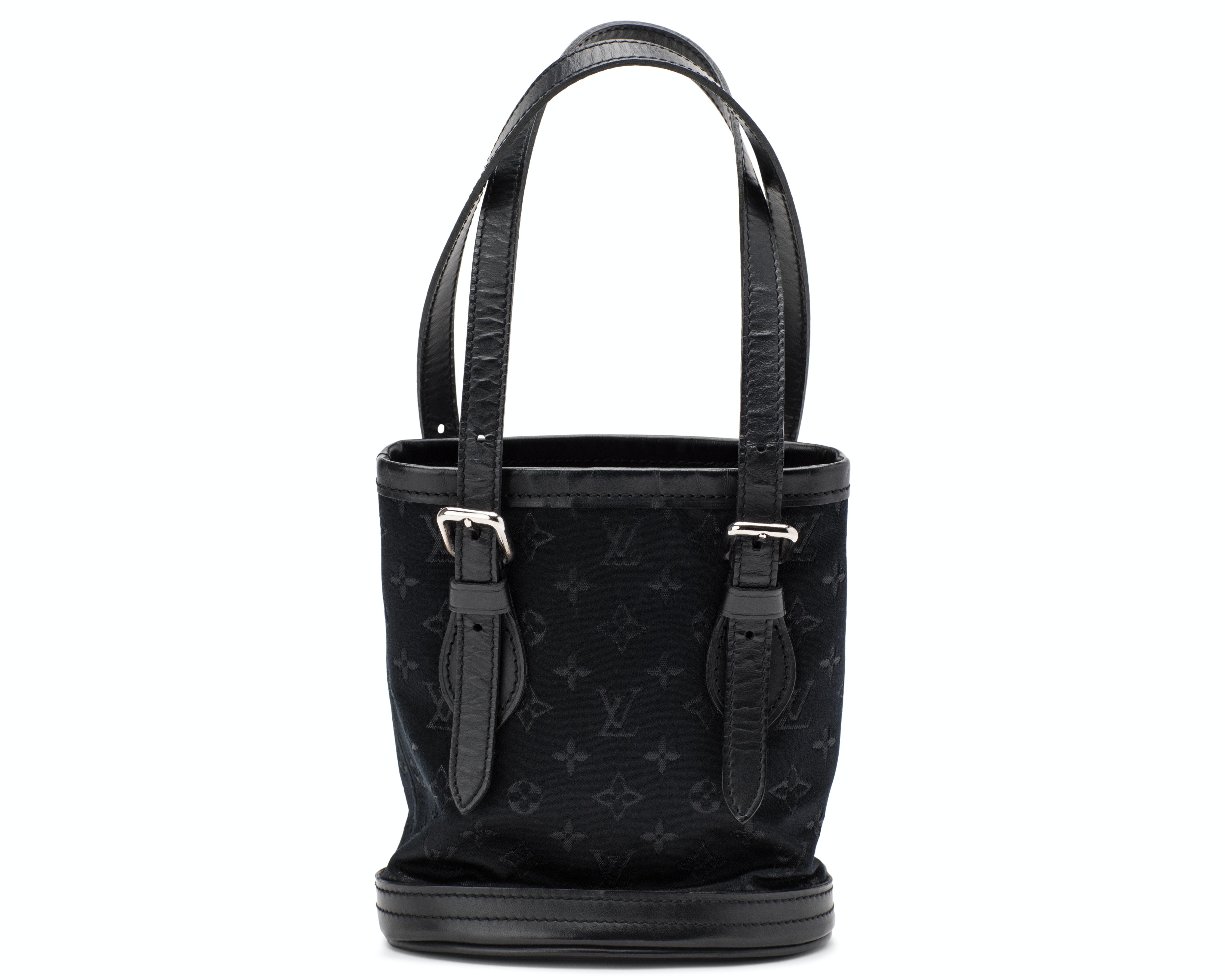 Louis Vuitton Bucket Bag Monogram Micro Mini Black