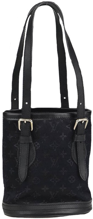 Louis Vuitton Bucket Bag Monogram Micro Mini Black