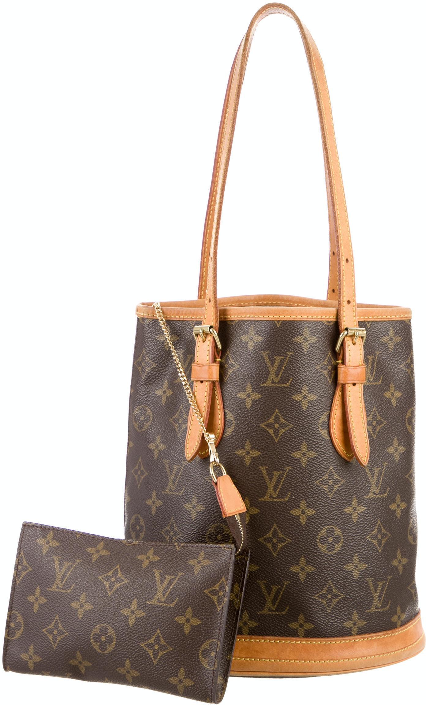 Louis Vuitton Bucket Bag Monogram Petit Brown