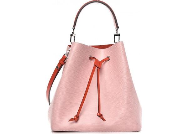 4e84b2bde149 Louis Vuitton Bucket Bag NeoNoe Epi Rose Ballerine Orange