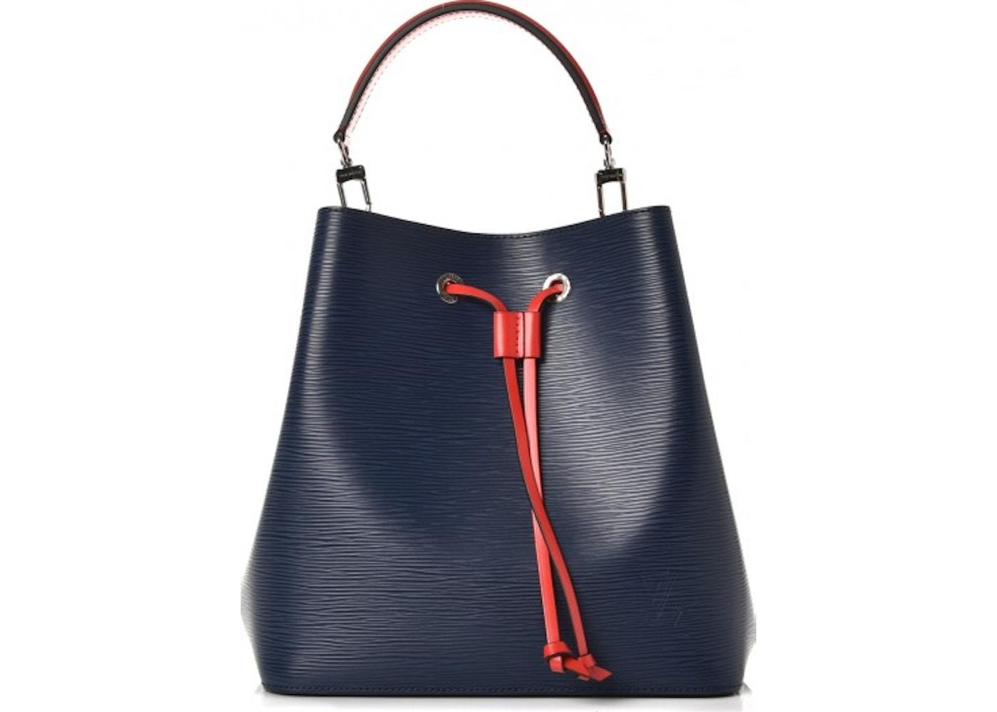 Louis Vuitton Bucket Bag Neonoe Epi Indigo Coquelicot. Epi Indigo Coquelicot cf16525de