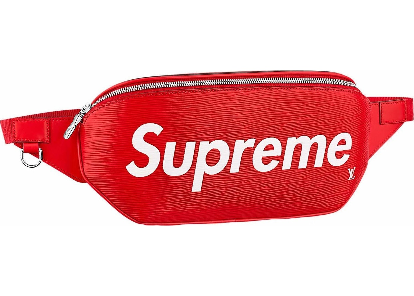 56b3f83f43ff Louis Vuitton x Supreme Bumbag Epi Red
