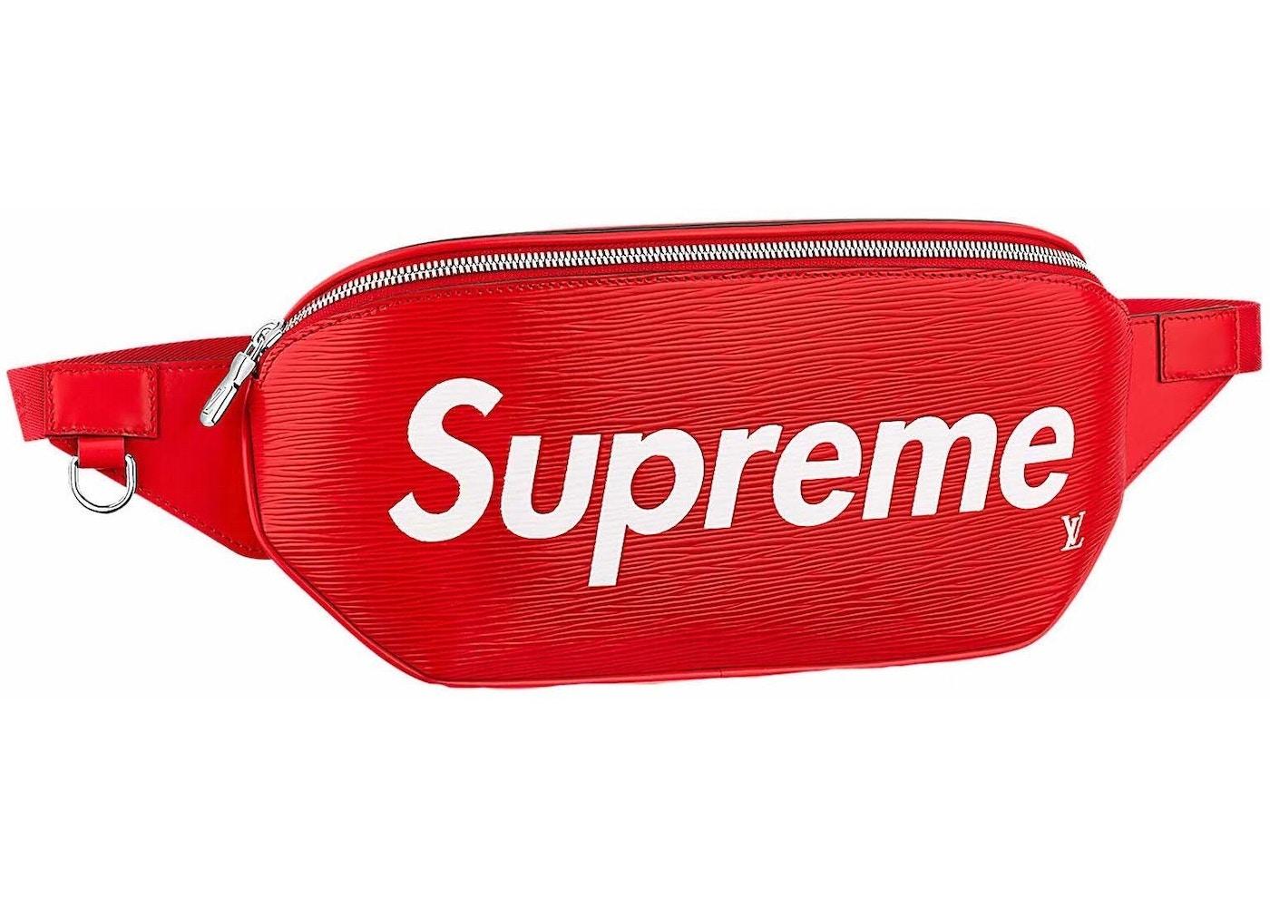2947e49513a Louis Vuitton x Supreme Bumbag Epi Red