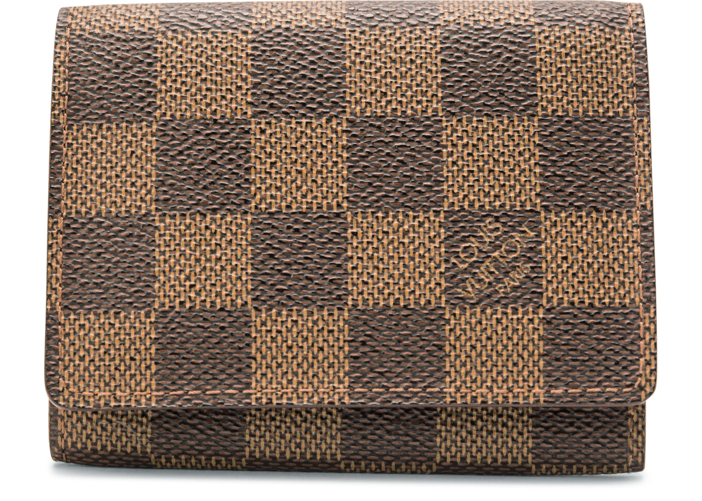 Louis Vuitton Business Card Holder Damier Ebene Brown