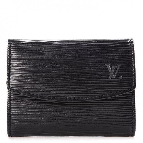 Louis Vuitton Business Card Holder Epi Noir Black