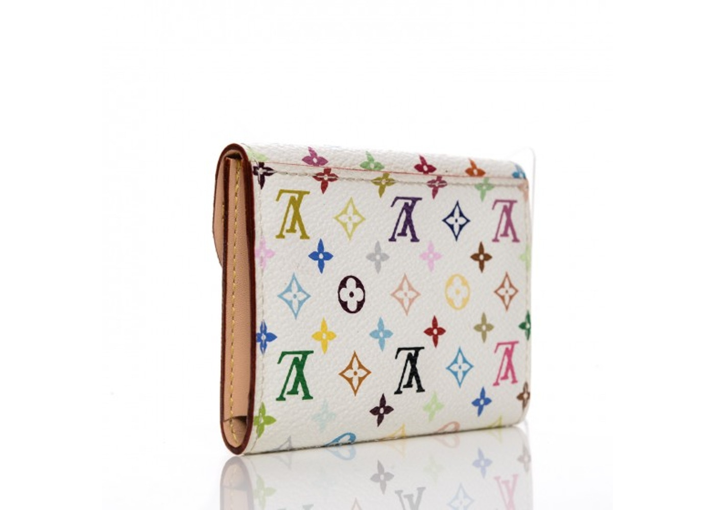 Louis Vuitton Flap Business Card Holder Monogram Multicolor