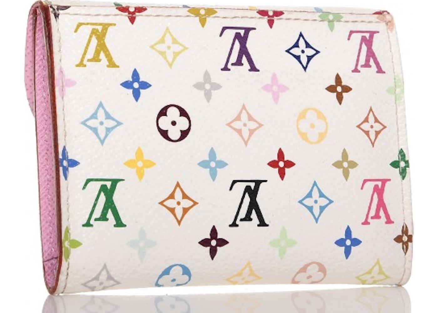 Louis vuitton business card holder monogram multicolor blanc whitepink colourmoves