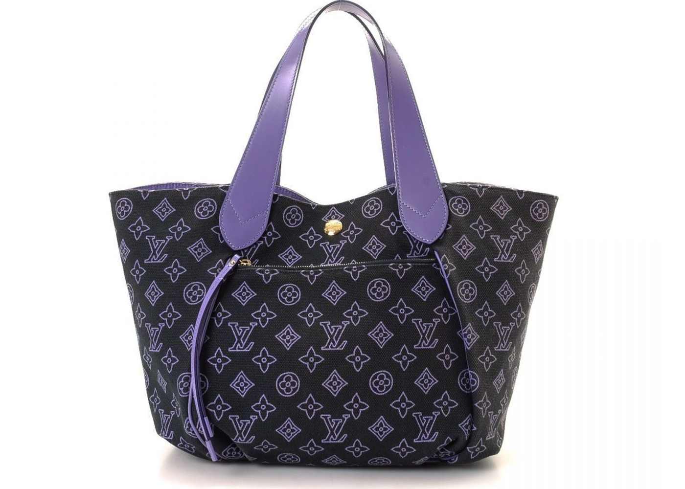 d82c31697 Louis Vuitton Cabas Monogram Ipanema GM Purple/Black