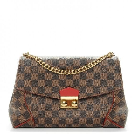 Louis Vuitton Clutch Caissa Damier Ebene Brown/ Cerise Cherry