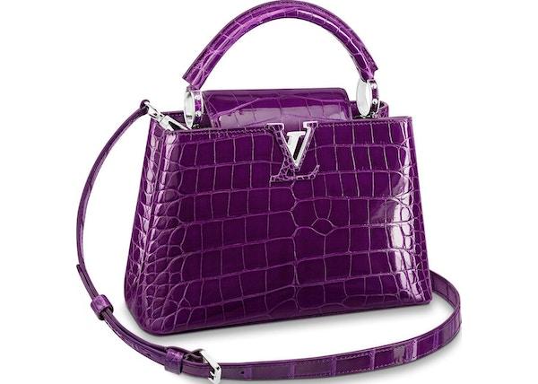 9be78dc50a82 Louis Vuitton Capucines Crocodile Brillant Silver-tone BB Purple