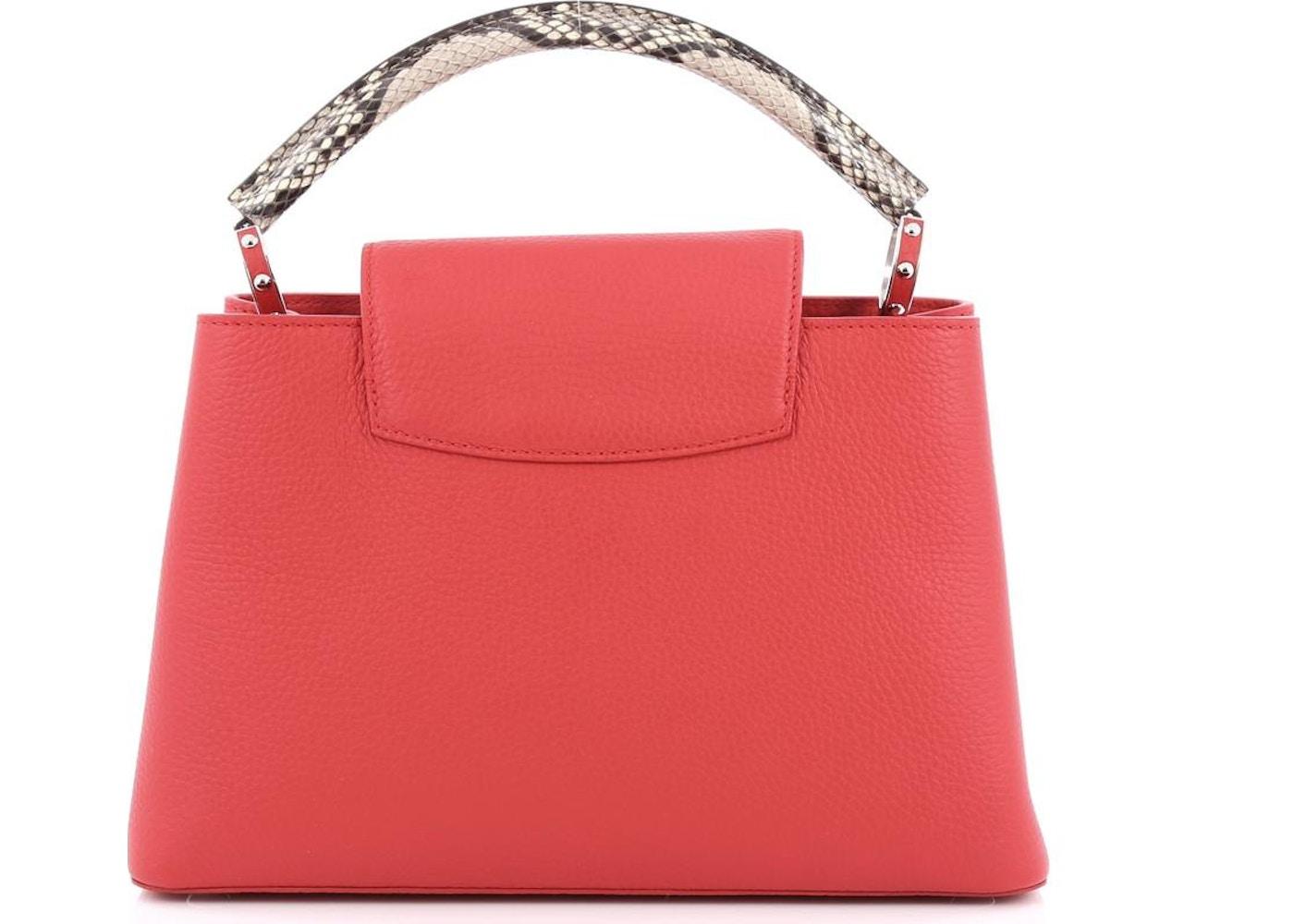 Louis Vuitton Capucines Python Handle Taurillon PM Rubis 6041f60c457