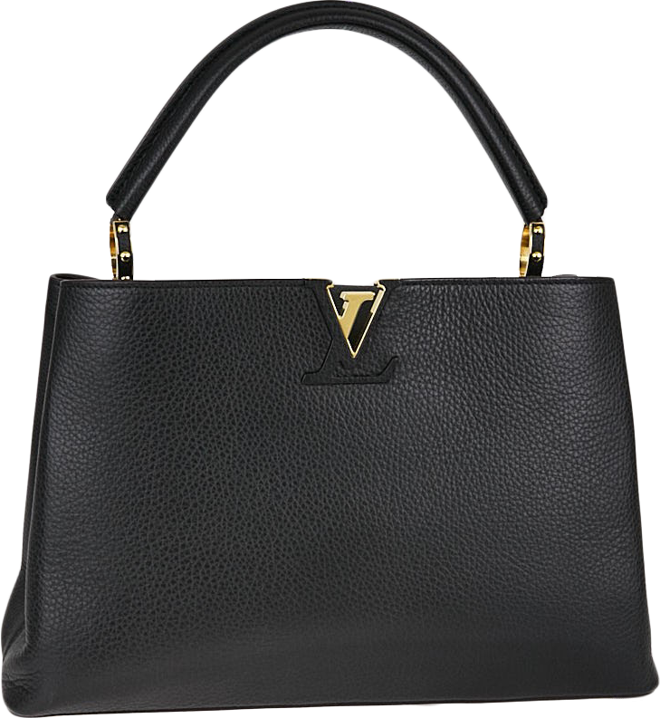Louis Vuitton Capucines Taurillon MM Black