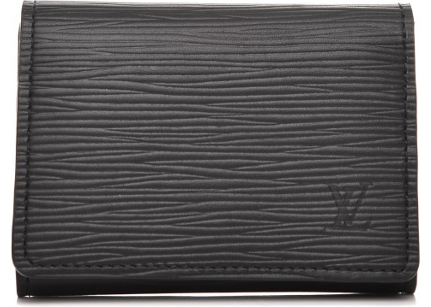 Louis Vuitton Card Holder Envelope Carte De Visite Epi Noir Black