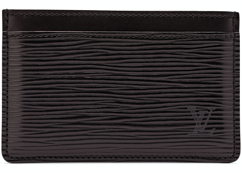 Louis Vuitton Card Holder Epi Noir Black