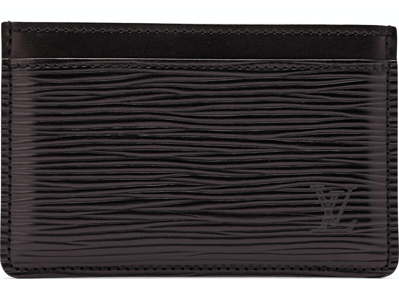 cca3ff66dac0fc Louis Vuitton Card Holder Epi Noir Black