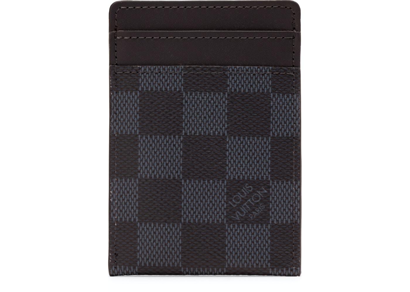 8ba59331dbcf Louis Vuitton Card Holder Neo Porte Cartes Damier Cobalt Blue Black. Damier  Cobalt Blue Black