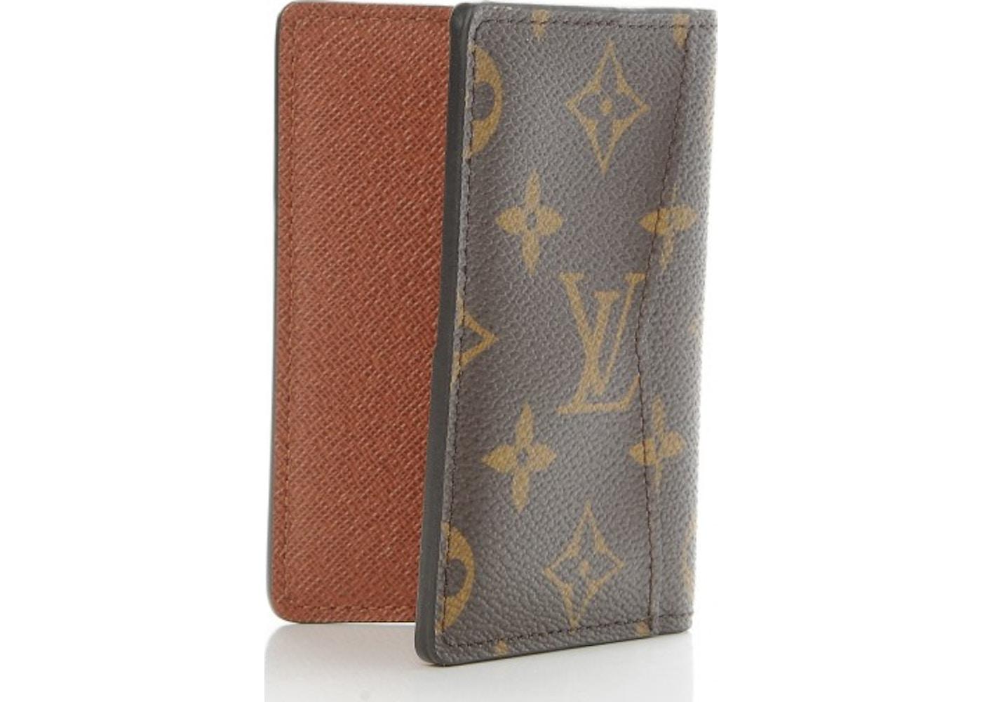 0e1a4398ff0b Louis Vuitton Card Holder Pocket Organizer Monogram Brown