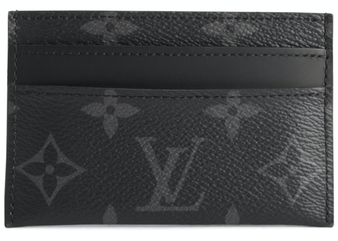 Louis Vuitton Card Holder Porte Cartes Double Monogram Eclipse Black/Grey