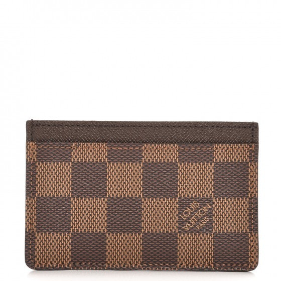 Louis Vuitton Card Holder Simple Damier Ebene Brown