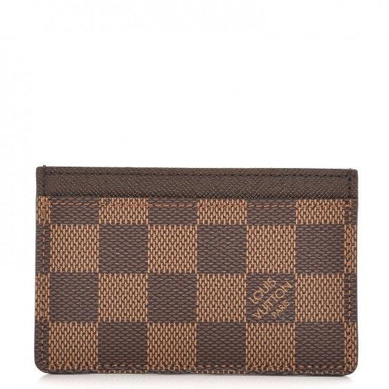 Louis Vuitton Card Holder Simple Damier Ebene Brown