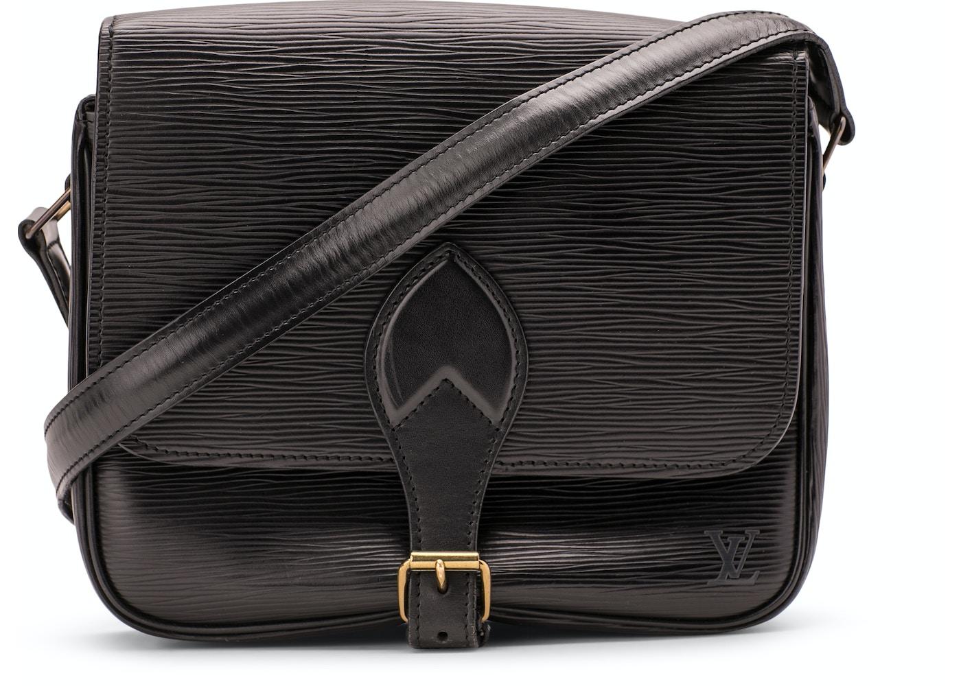430a922b3774 Louis Vuitton Cartouchiere Crossbody Epi GM Black
