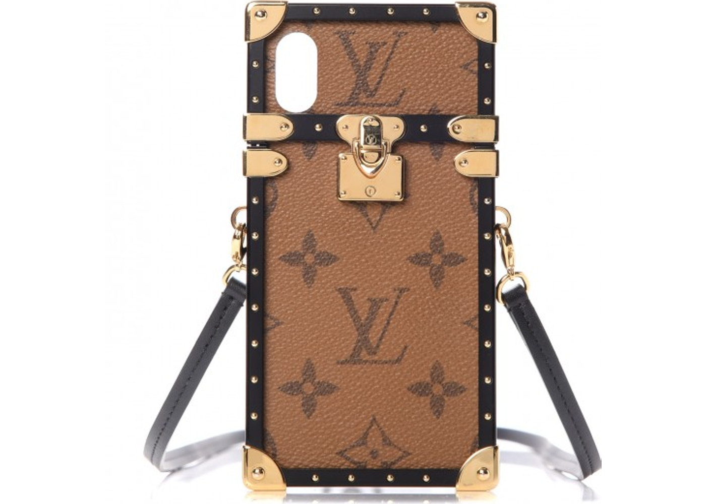 the latest 9e4c9 22942 Louis Vuitton Case iPhone X Eye-Trunk Monogram Reverse Brown