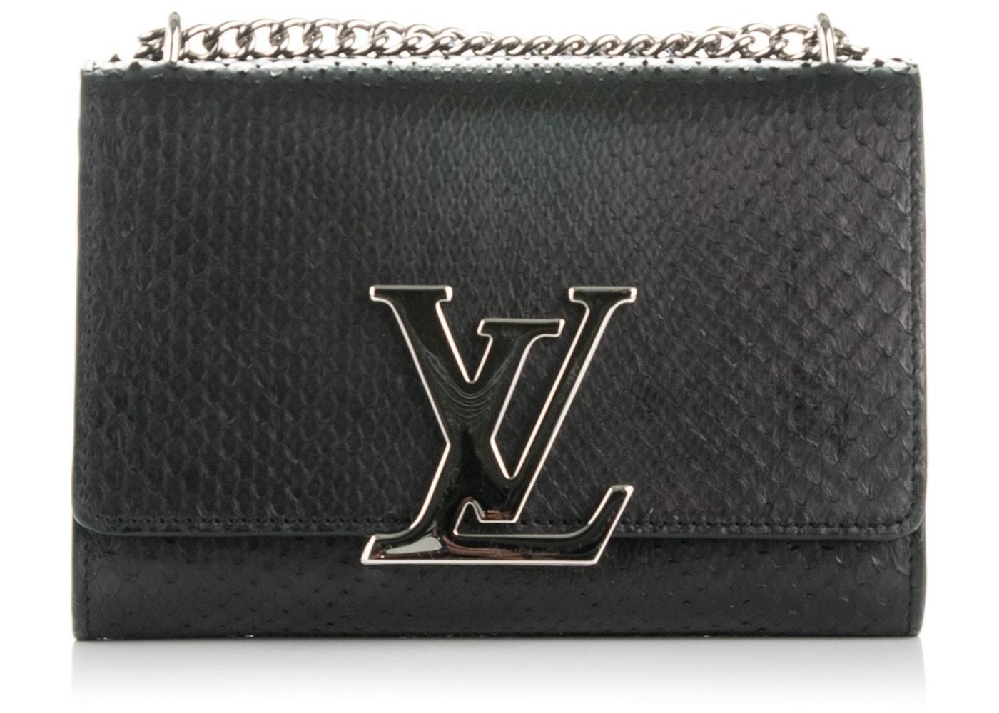 Louis Vuitton Chain Louise MM Noir Black 3793baae0b9