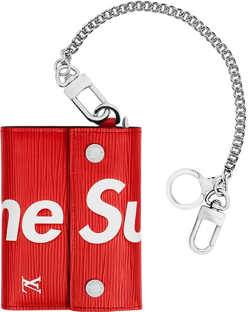 Louis Vuitton x Supreme Chain Wallet Epi Red