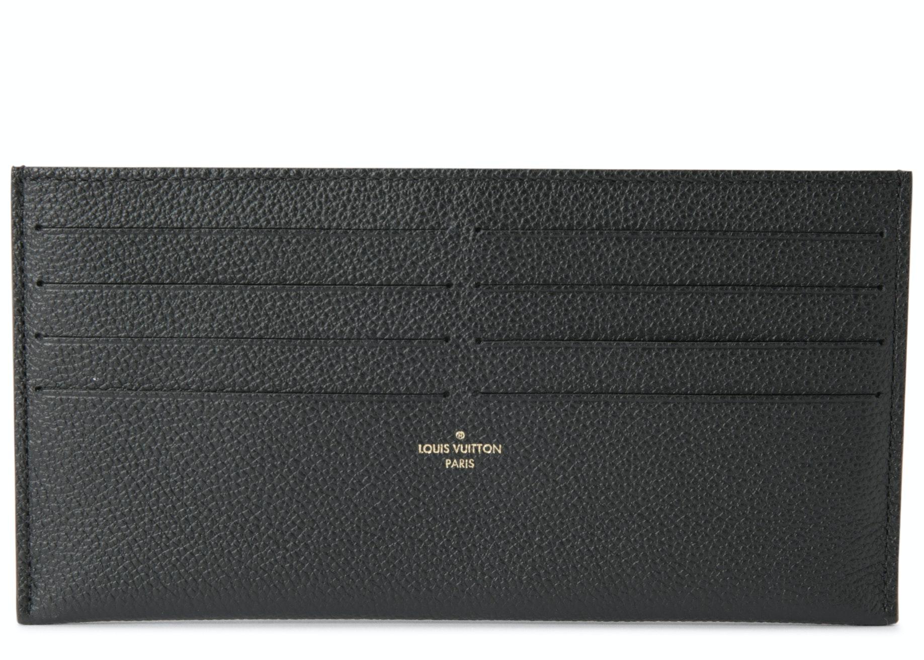Louis Vuitton Pochette Felicie Card Holder Insert Black