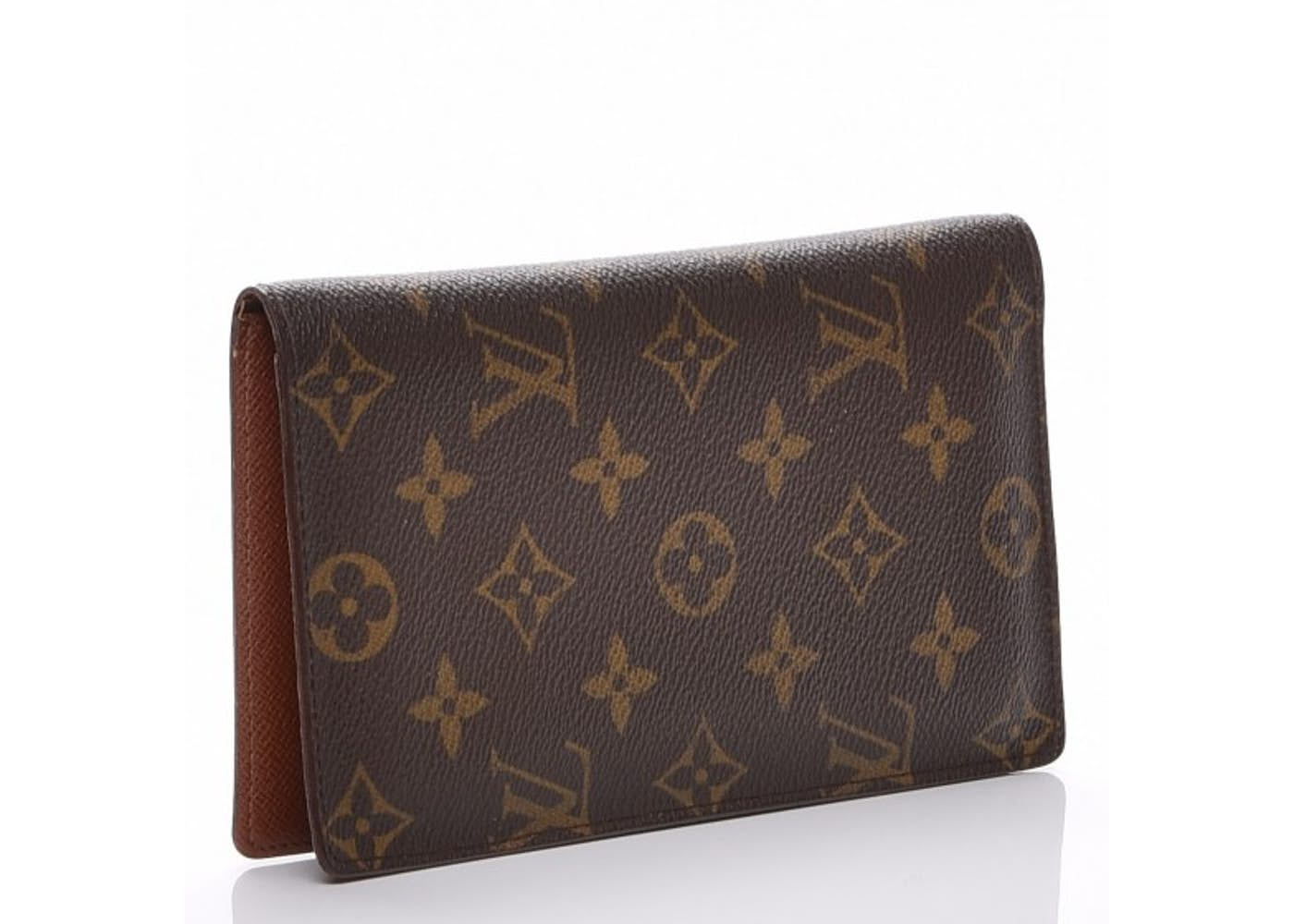 Louis vuitton checkbook wallet porte chequier cartes credit european monogram brown - Porte chequier louis vuitton ...