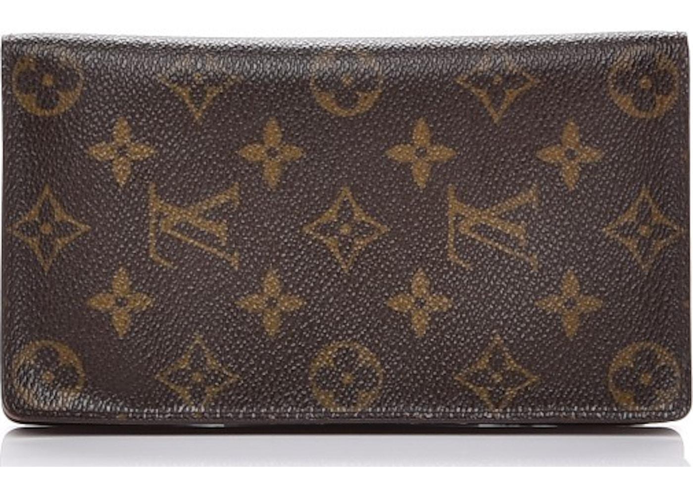 281e1159e7ce Louis Vuitton Checkbook Wallet Porte Chequier Cartes Credit European  Monogram Brown