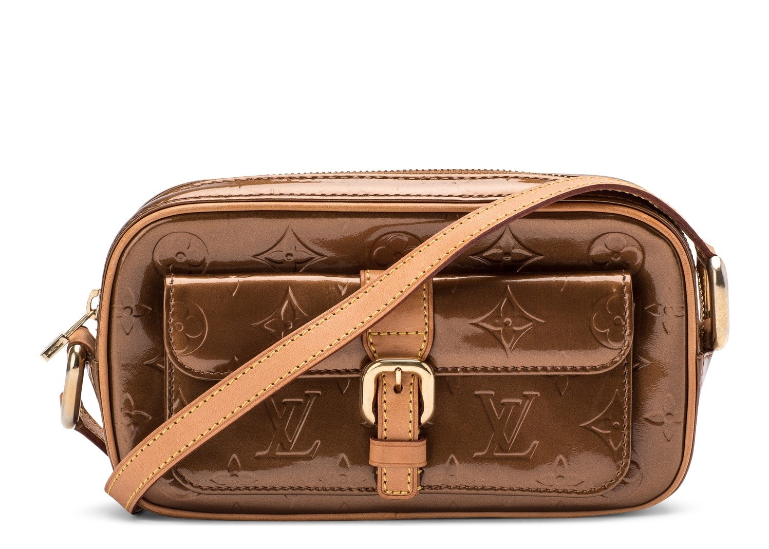 Louis Vuitton Christie Monogram Vernis MM Bronze
