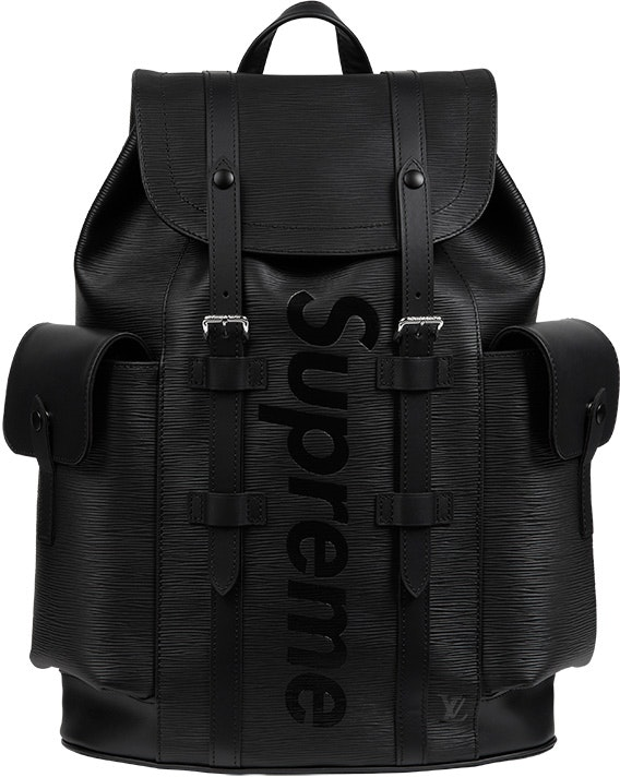 Louis Vuitton x Supreme Christopher Backpack Epi PM Black