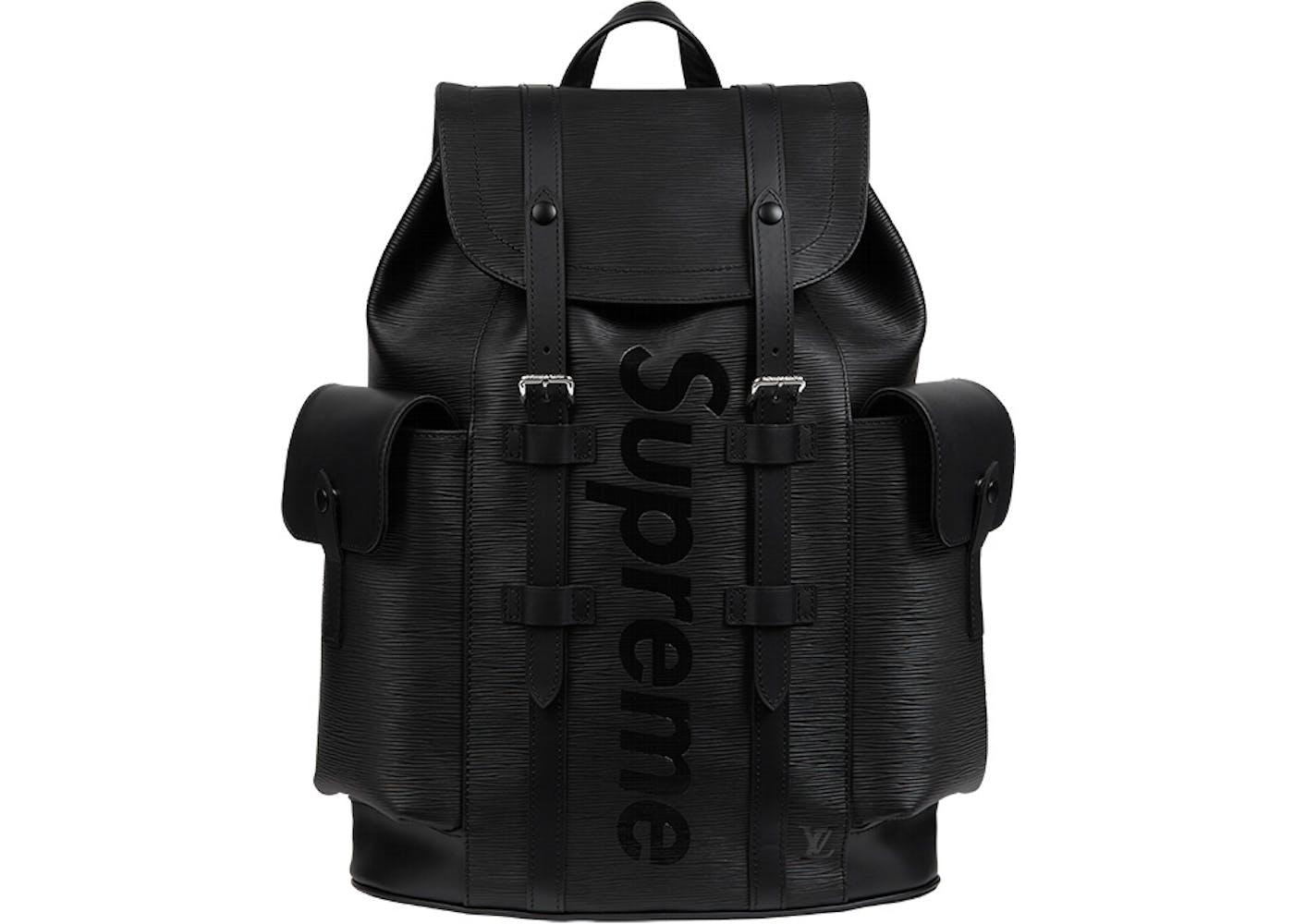 louis vuitton x supreme christopher backpack epi pm black. Black Bedroom Furniture Sets. Home Design Ideas