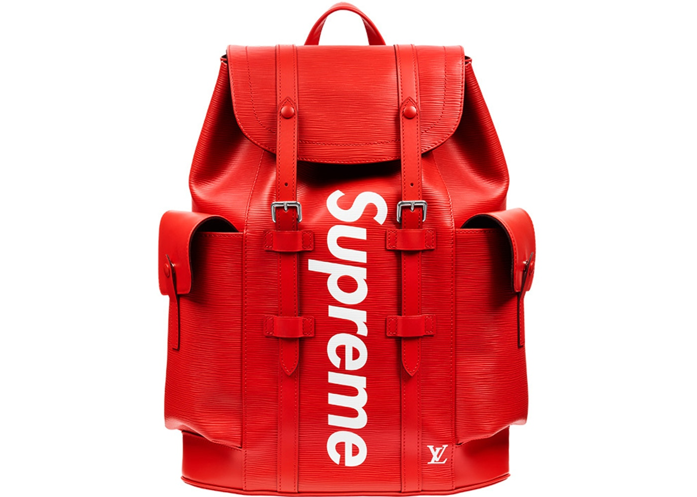 sneakers for cheap 5c6eb a5b43 Louis Vuitton x Supreme Christopher Backpack Epi PM Red
