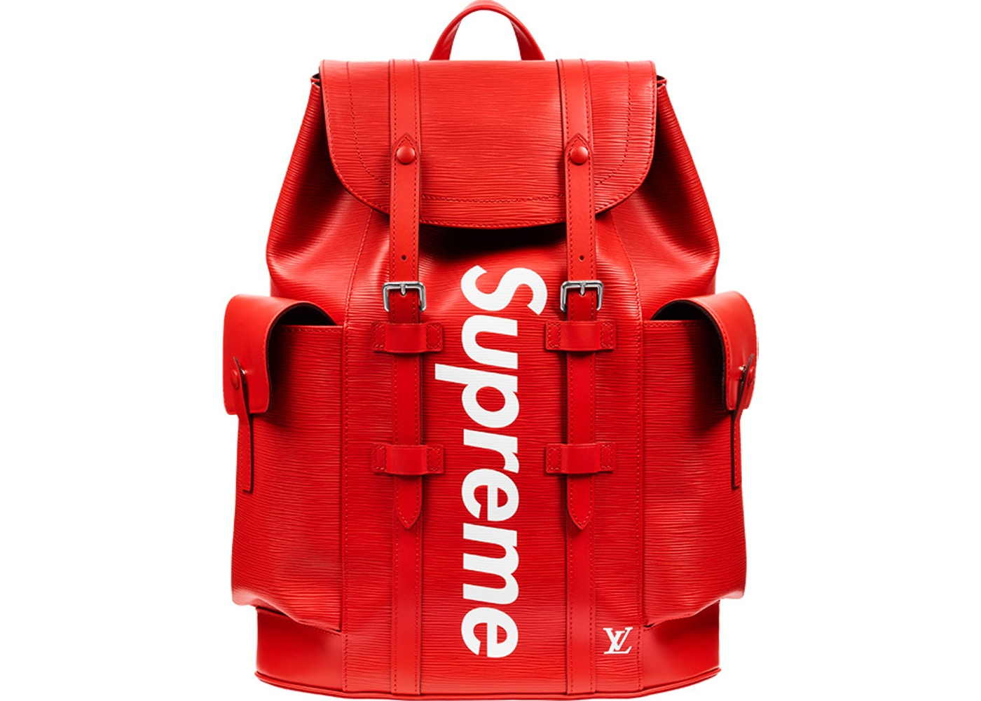 louis vuitton x supreme christopher backpack epi pm red. Black Bedroom Furniture Sets. Home Design Ideas