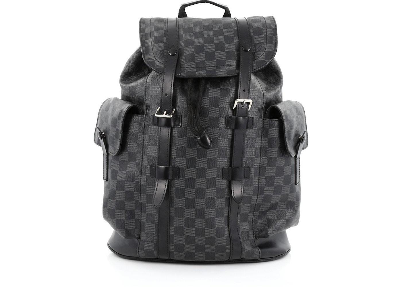 ddc2934bf4 Louis Vuitton Christopher Damier Graphite PM Black