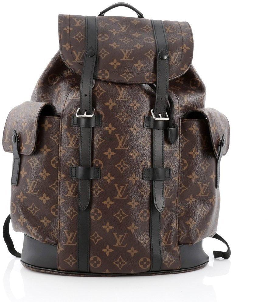 Louis Vuitton Christopher Monogram Macassar PM Brown
