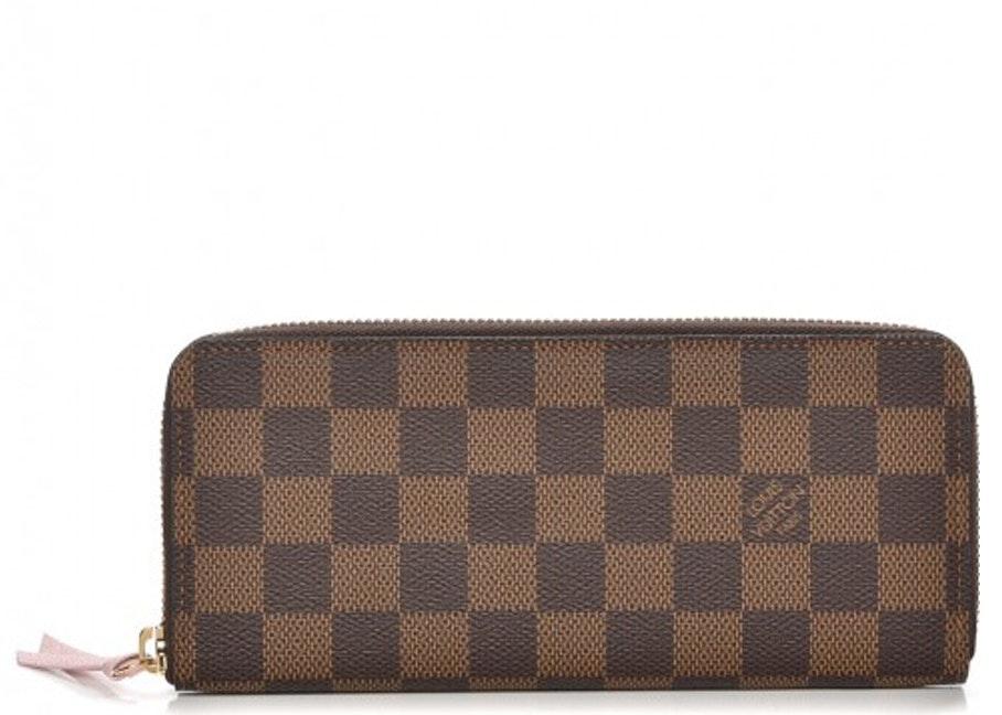 Louis Vuitton Wallet Clemence Damier Ebene