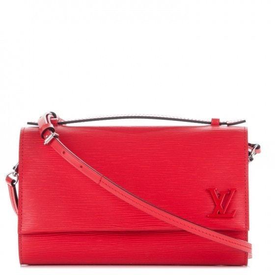 Louis Vuitton Clery Epi Coquelicot