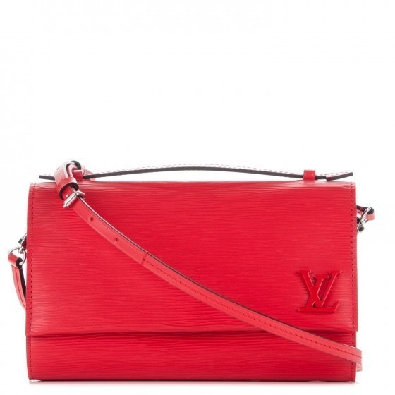 Louis Vuitton Clery Epi Coquelicot