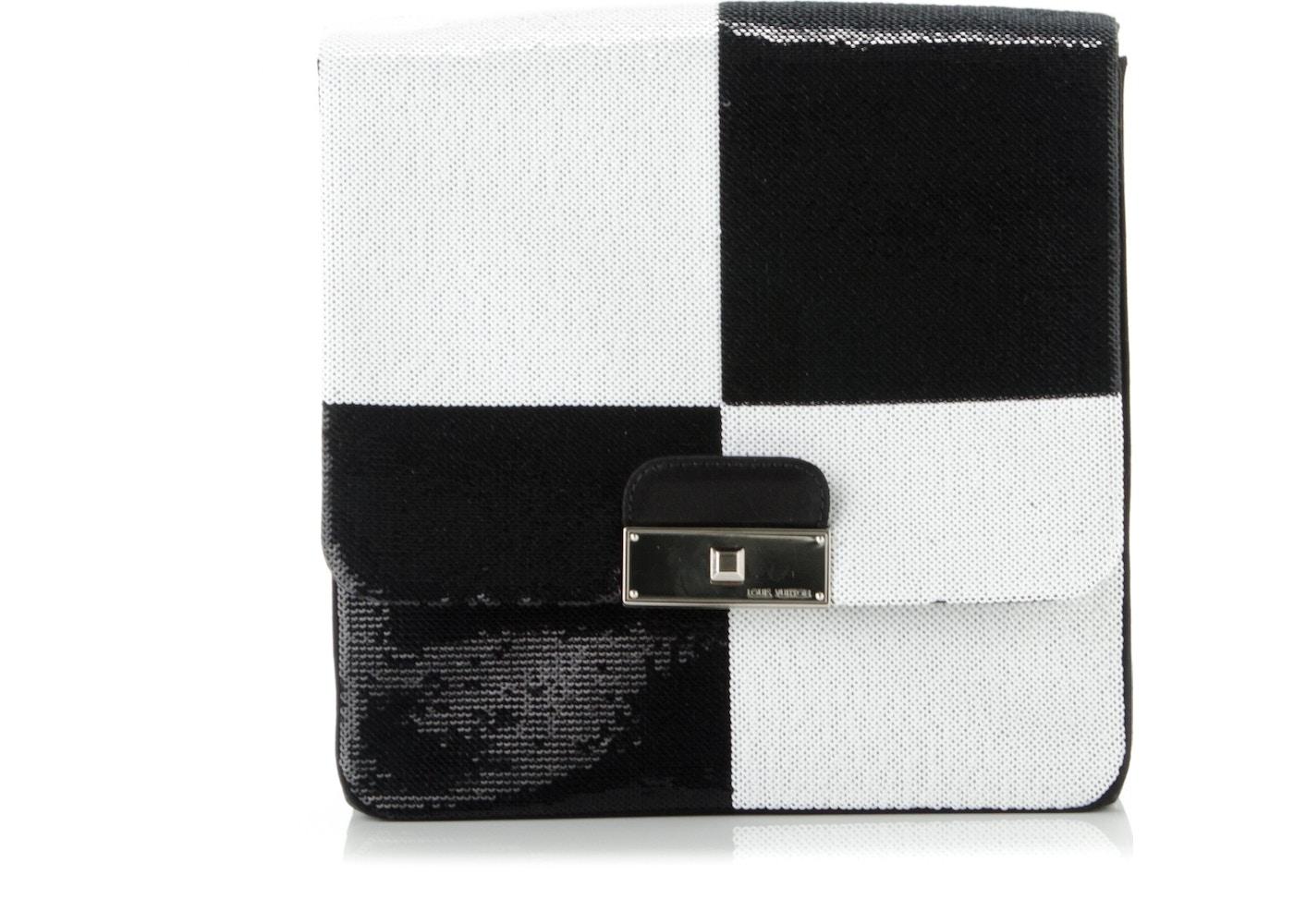 90ffdcd6518c Louis Vuitton Clutch Envelope Damier Optic Sequins Black White. Damier  Optic Sequins Black